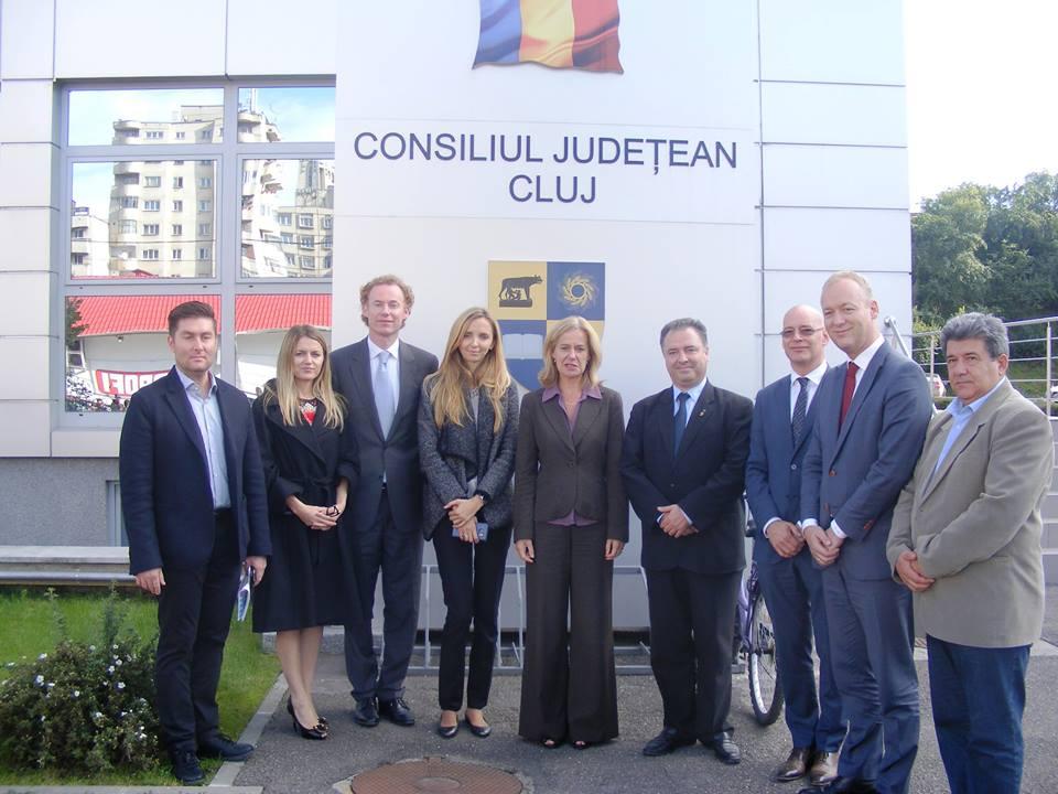 delegatie olandeza la CJ Cluj