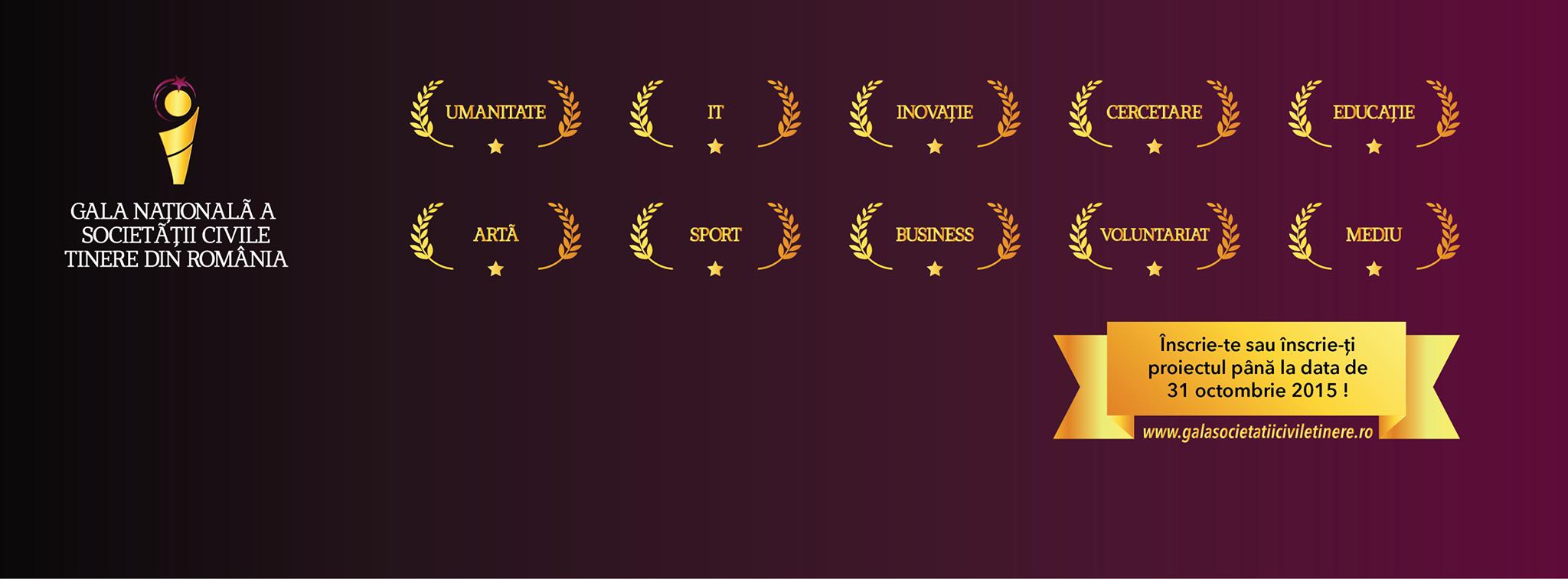 Nominalizează tinerii cu merite deosebite la Gala Națională a Societății Civile Tinere 2015