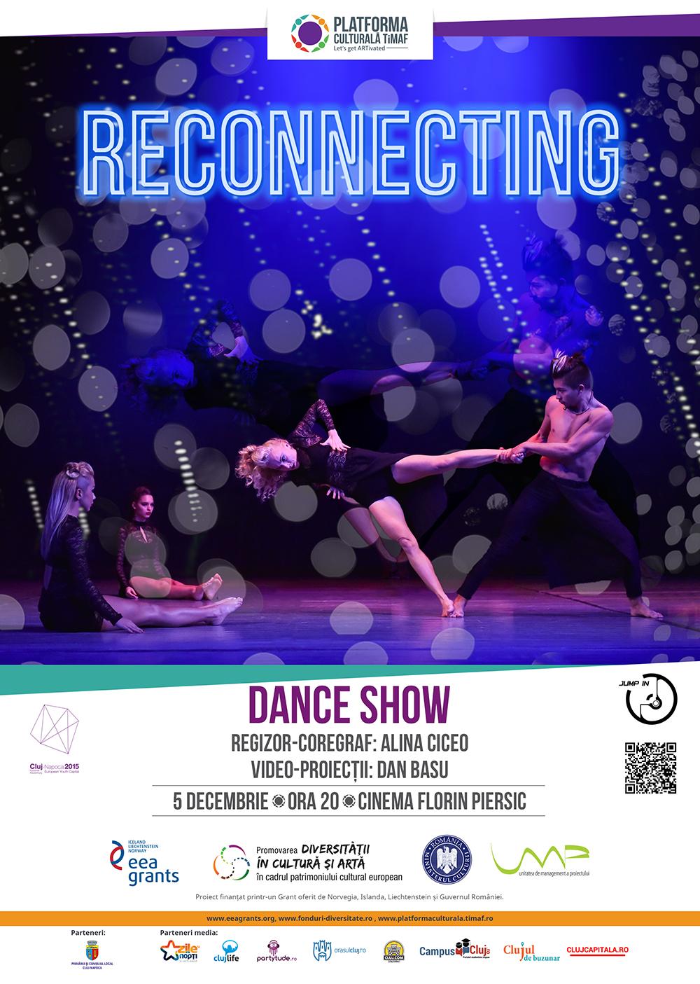 """RECONNECTING – spectacol de dans contemporan cu proiecții la cinema """"Florin Piersic"""""""