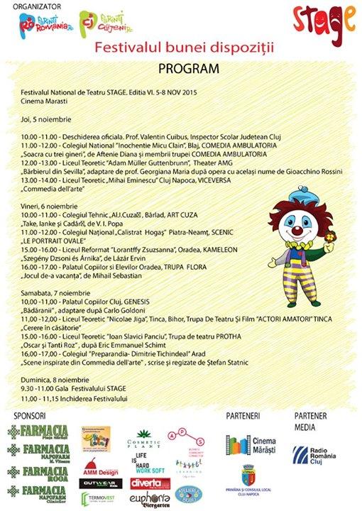 festivalul national de teatru pentru adolescenti stage cluj