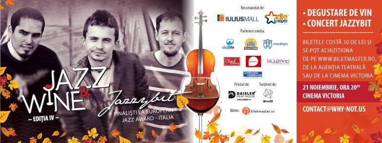 Degustare de vinuri și concert de jazz, sâmbătă, 21 noiembrie, la Cinema Victoria