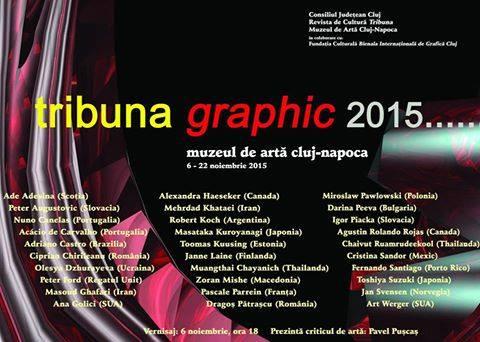"""""""Tribuna Graphic"""" – Expoziţia internaţională de grafică contemporană la Muzeul de Artă Cluj-Napoca"""