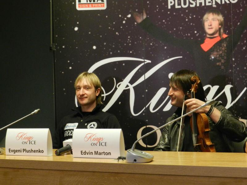 Evgeni Plushenko si Edvin Marton (18 decembrie 2015, Kings of Ice, CLuj)