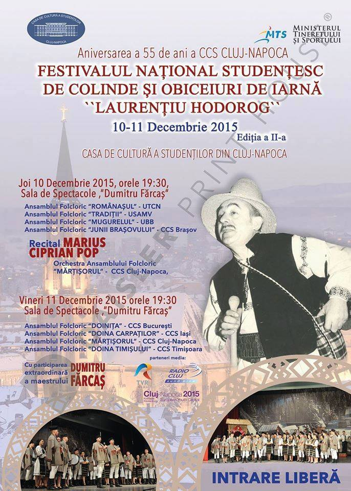 festivalul national studentesc de colinde si obiceiuri de iarna laurentiu hodorog 10-11 dec 2015 ccs