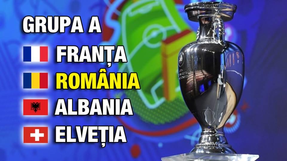 """România și-a aflat adversarele pentru EURO 2016! """"Tricolorii"""" vor juca meciul de deschidere pe 10 iunie!"""