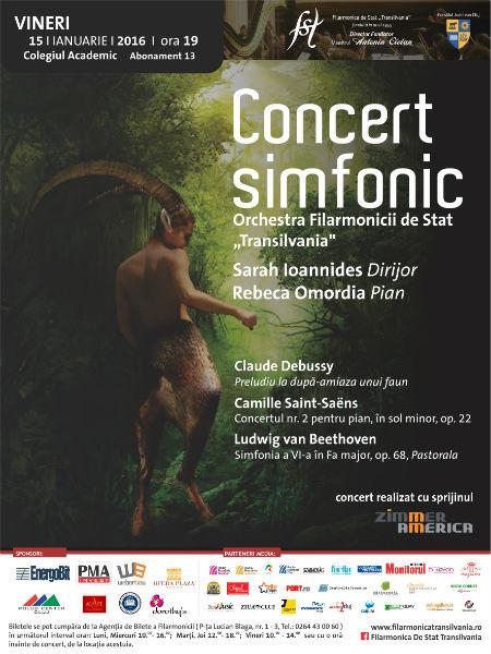 Concert simfonic sub bagheta dirijoarei Sarah Ioannides