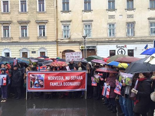O nouă acțiune de solidaritate pentru famila Bodnariu, sâmbătă, în centrul Clujului