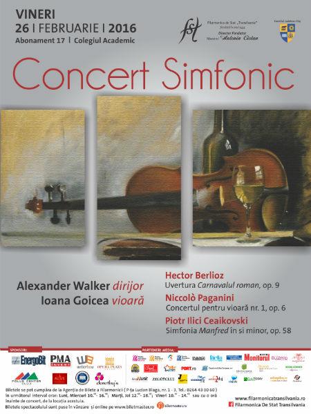 """Dirijorul britanic Alexander Walker revine pe scena clujeană într-un concert al Filarmonicii de Stat """"Transilvania"""""""