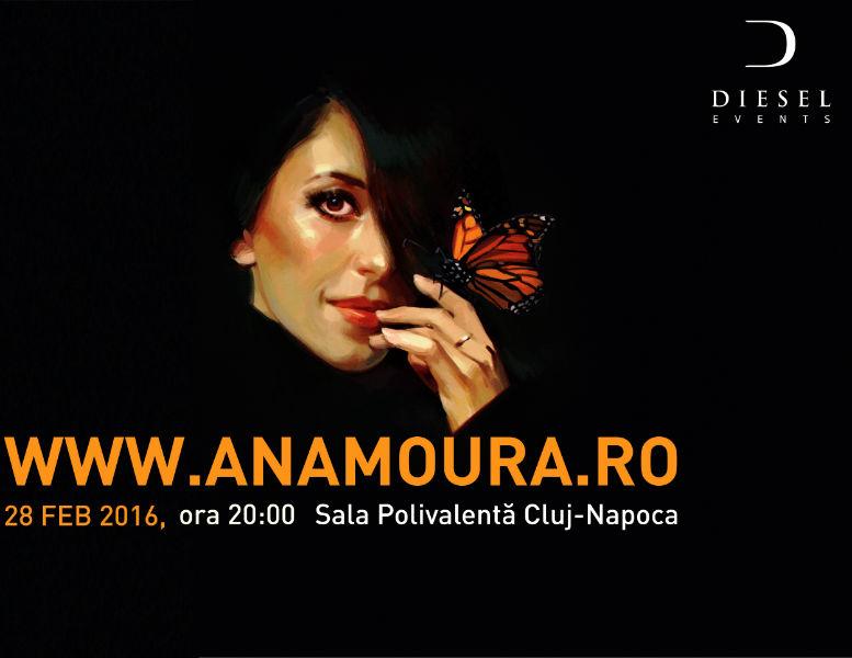 Biletele la concertul Anei Moura din Cluj pot fi achiziționate și online de pe anamoura.ro