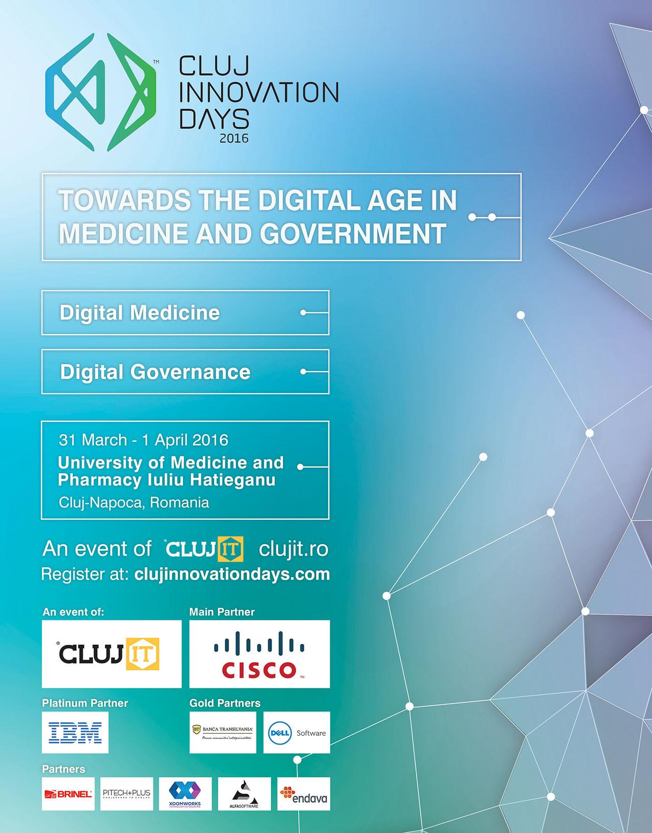 Specialiști români și străini dezbat perspectivele medicinei digitale la Cluj Innovation Days 2016