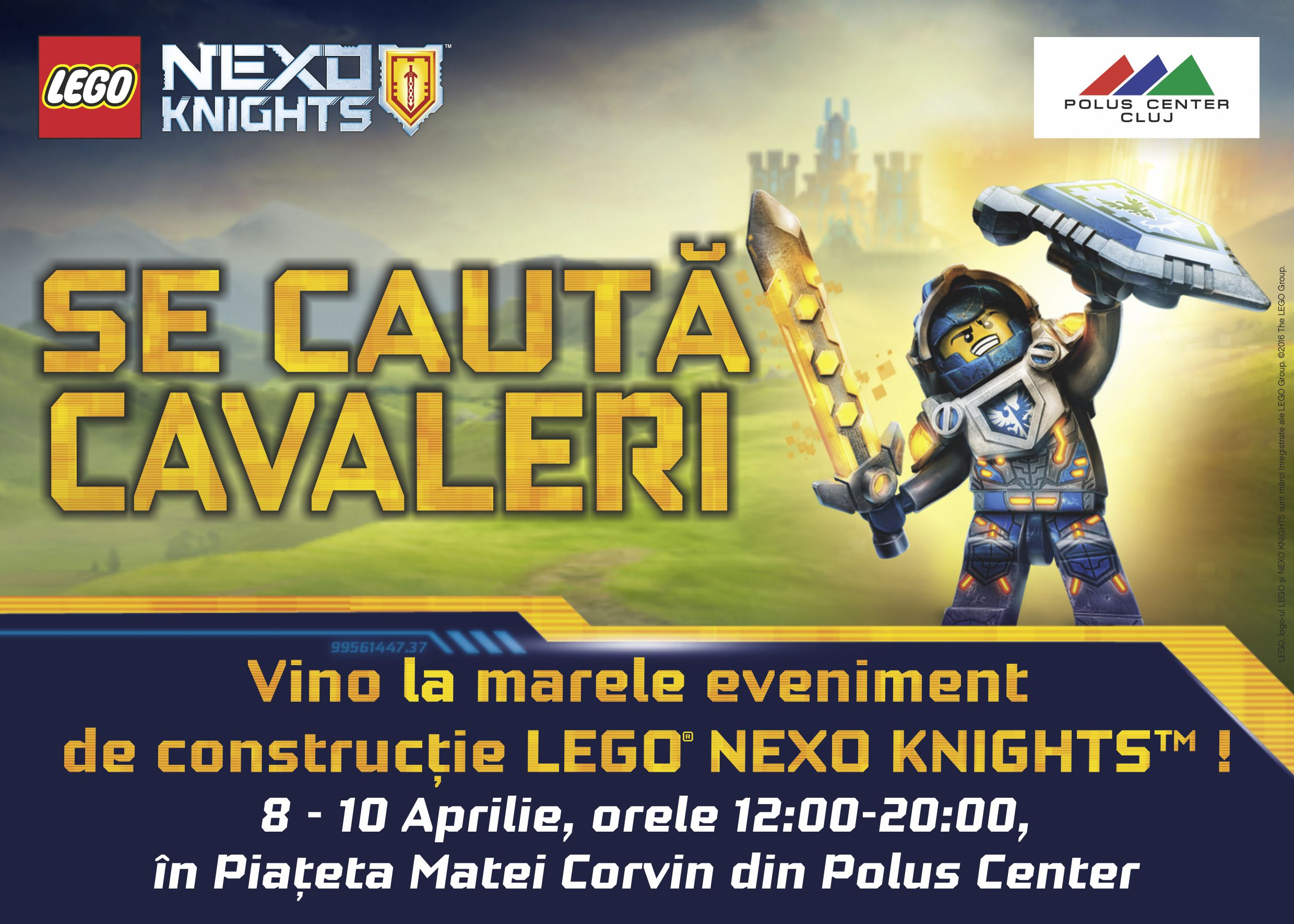 Copiii sunt invitati in weekend la Polus Center, la evenimentul LEGO® Nexo Knights (P)