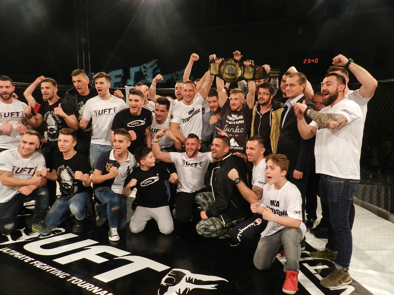 Maris Ciprian MMA Transilvania, castigator centura mondiala MMA la Gala UFT Cluj 15 aprilie 2016