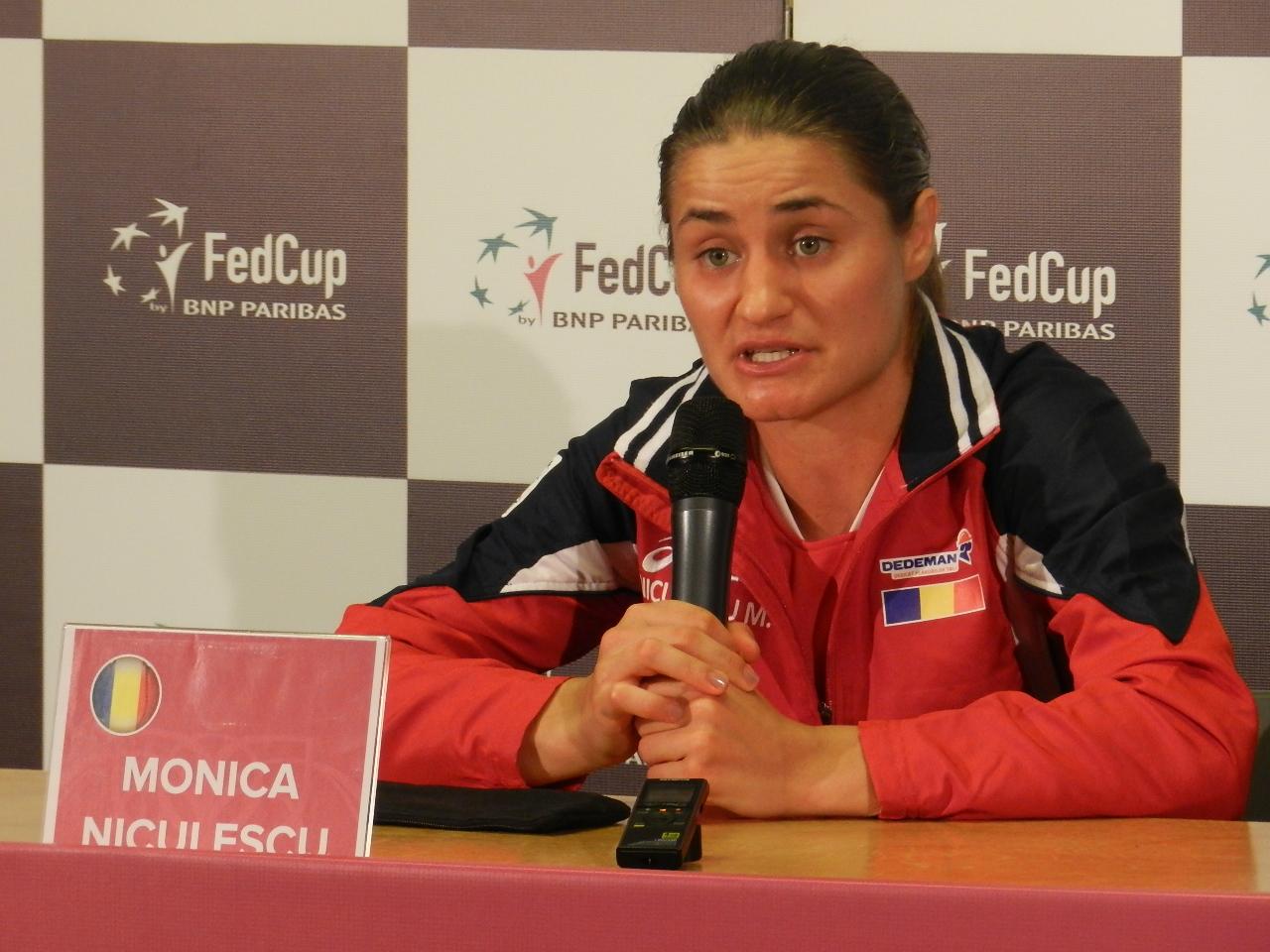 Monica Niculescu, conf de pres Fed Cup Cluj (17.042016)