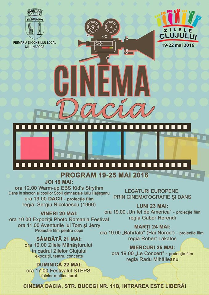 cinema dacia manastur program