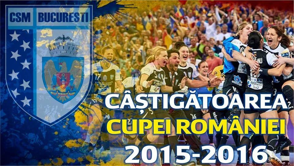 CSM București a câștigat, sâmbătă, la Cluj, Cupa României, reușind o triplă istorică!