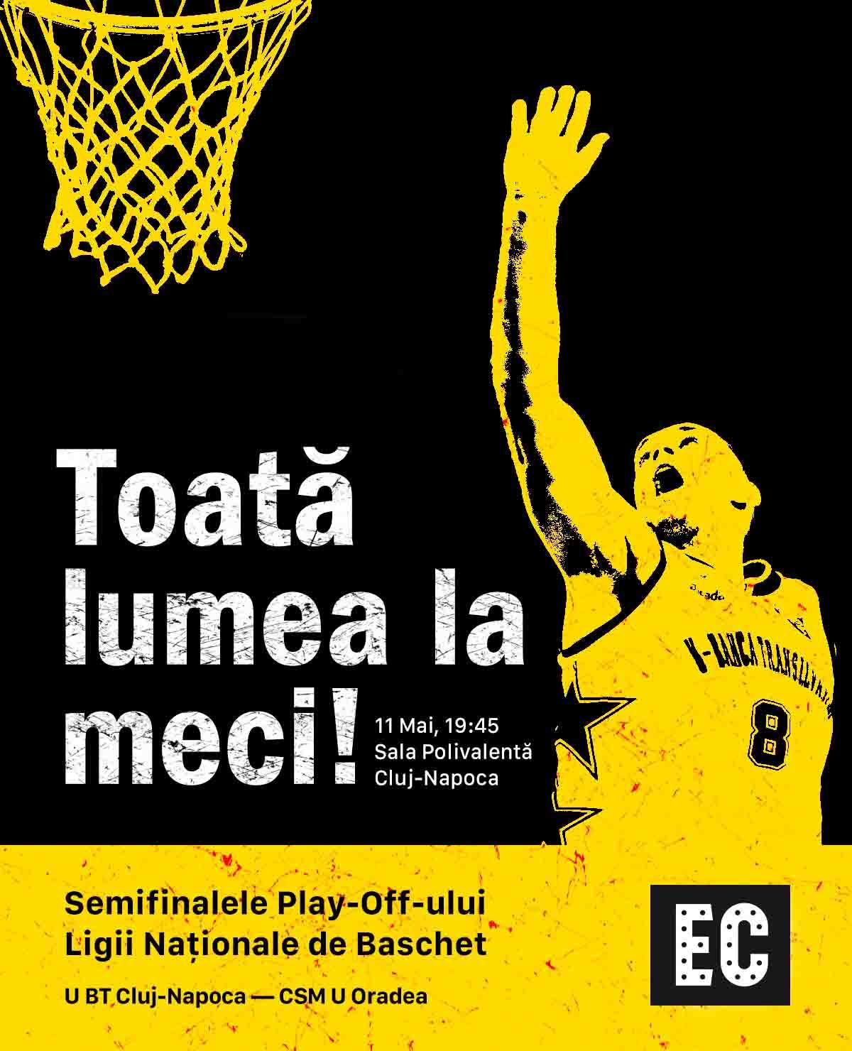 """Electric Castle te invită mâine în Sala Polivalentă la """"U"""" BT Cluj – CSM Oradea, în semifinalele Ligii Naționale! Festivalul oferă 100 de bilete gratuite la meci"""
