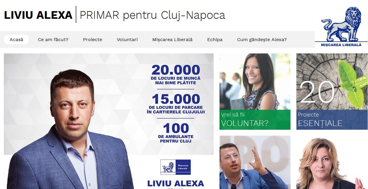 Cunoaște-i înainte să-i votezi! Liviu Alexa, singurul candidat la Primăria Cluj-Napoca care și-a lansat un site de campanie profesionist, oferindu-le clujenilor 20 de proiecte importante pentru dezvoltarea orașului