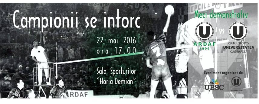 u ardaf meci demonstrativ sala sporturilor horia demian 22 mai 2016