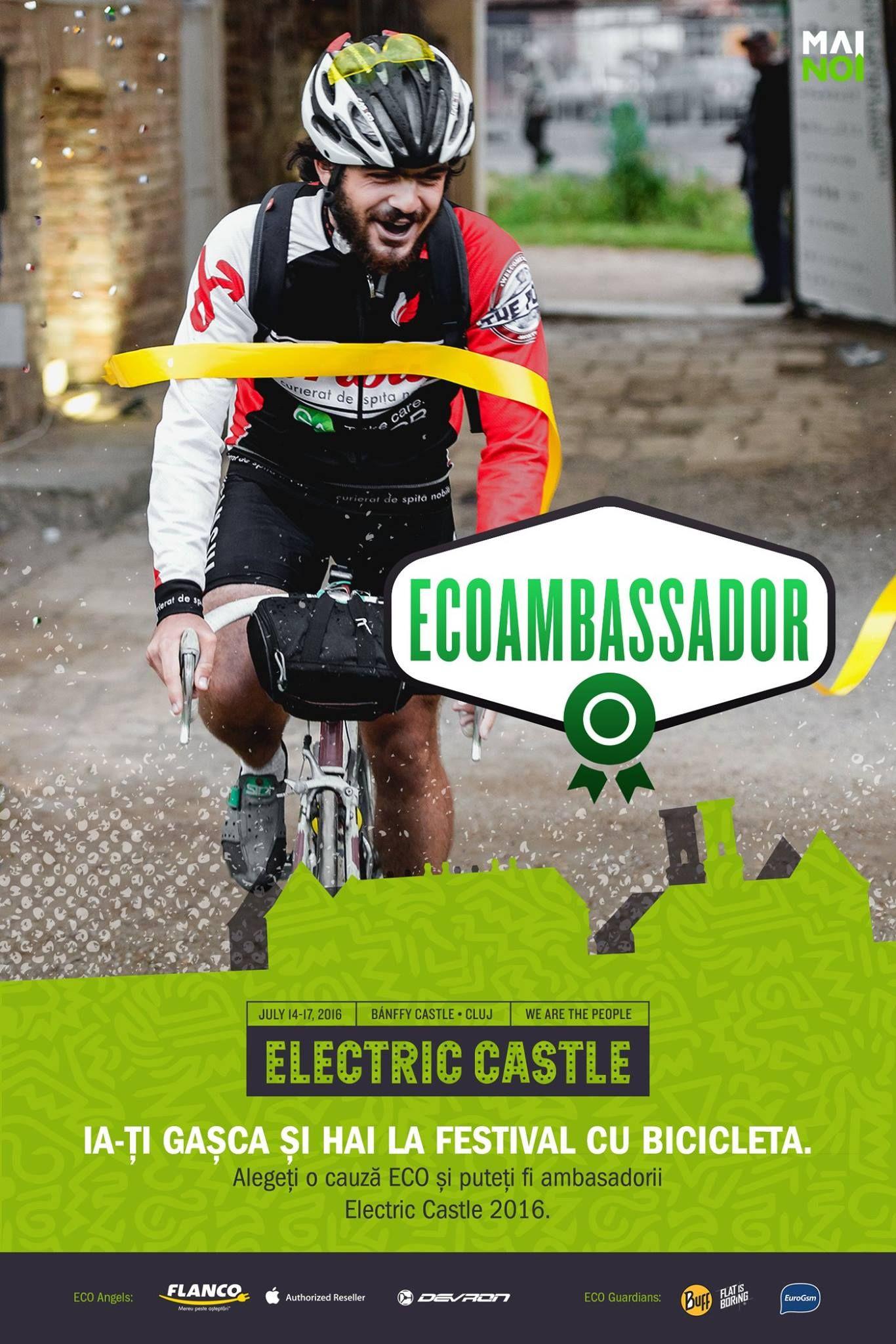 Electric Castle caută eco-ambasadori: Vino cu bicicleta la castelul Banffy din Bontida de la peste 250 de kilometri si intri gratuit la festival!