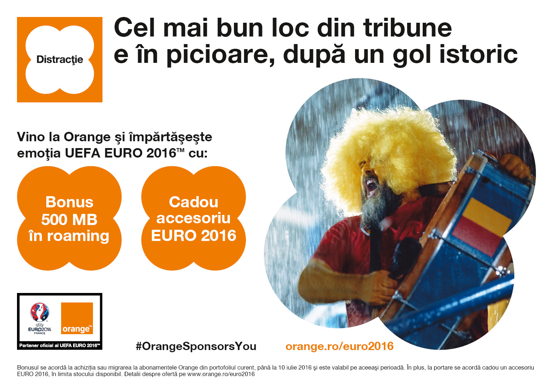 Orange lansează oferta dedicată UEFA EURO 2016 TM și aduce noi surprize pentru microbisti (P)