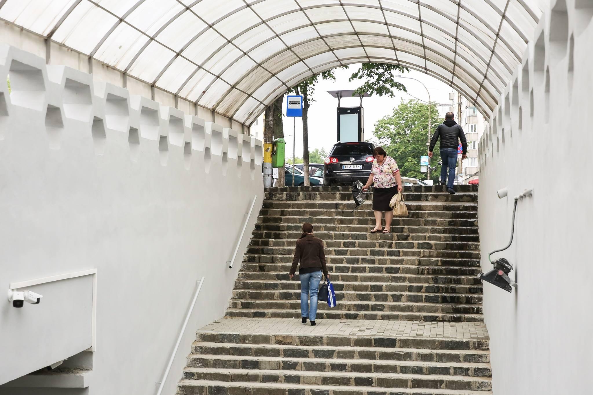 Pasajele pietonale subterane de pe Calea Floresti au fost finalizate si redeschise pentru public