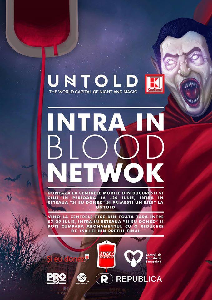 Reteaua Blood Network: Doneaza sange si intri gratuit la UNTOLD – cel mai bun festival din Europa!