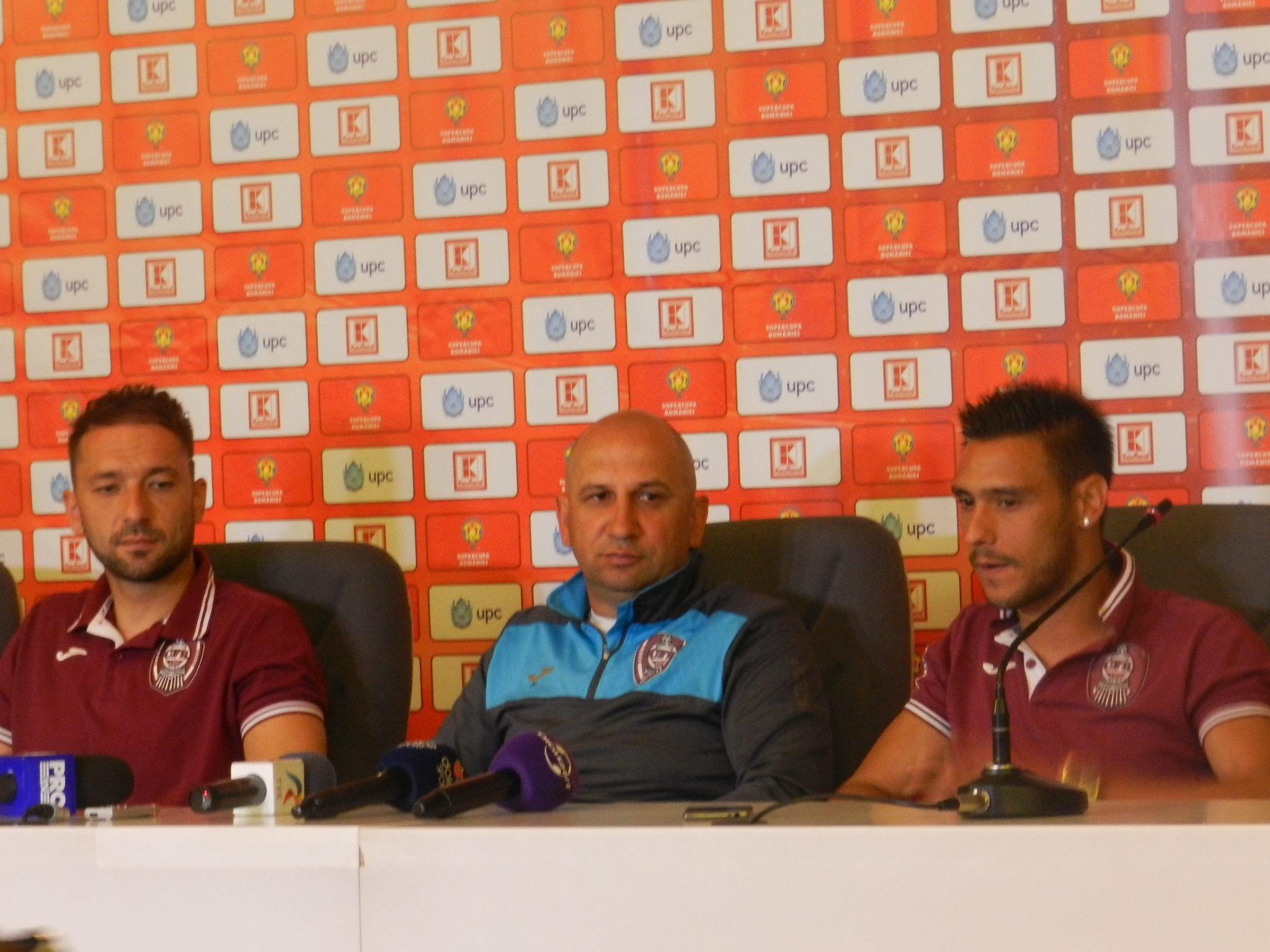Conferinta de presa Cluj Arena SuperCupa Romaniei (CFR - Astra Giurgiu) Traian Marc, Vasile Miriuta, Mario Camora (15 iulie 2016)