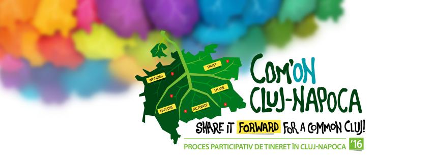 Au mai ramas doua zile pana cand puteti trimite ideile de proiecte pentru COM'ON Cluj-Napoca! Ultimul termen este sâmbătă, 23 iulie 2016, ora 23.59