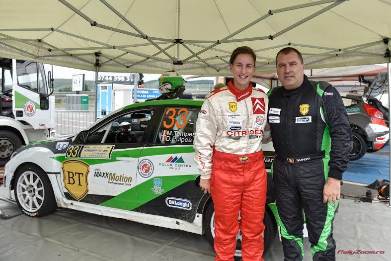 Handbalista Cristina Laslo a luat pulsul Raliului Transilvaniei, în calitate de copilot a lui Marco Tempestini
