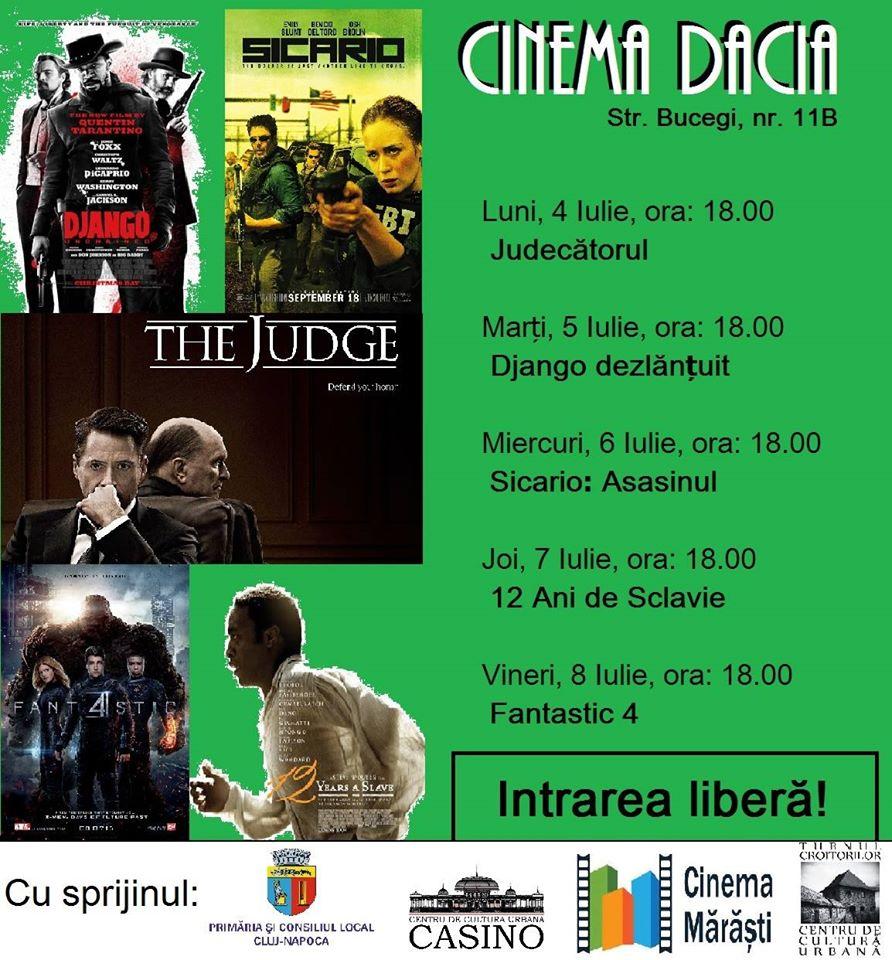 program cinema dacia manastur cluj 4-8 iulie 2016