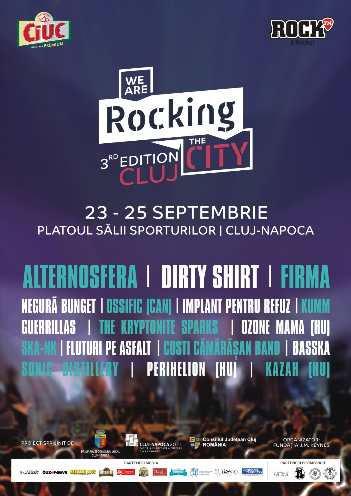 """Festivalul rock al Clujului, """"We are Rocking the city"""", va avea loc în perioada 23-25 septembrie 2016, pe platoul Sălii Sporturilor """"Horia Demian"""""""
