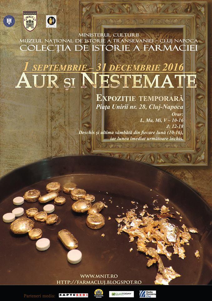 """Expoziția """"Aur și nestemate"""", la Muzeul Farmaciei, disponibilă de la 1 septembrie!"""