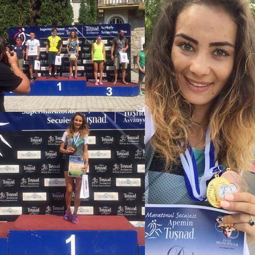 """Atleta Laura Popescu, câștigătoare a """"Maratonului Secuiesc"""" din Tușnad"""
