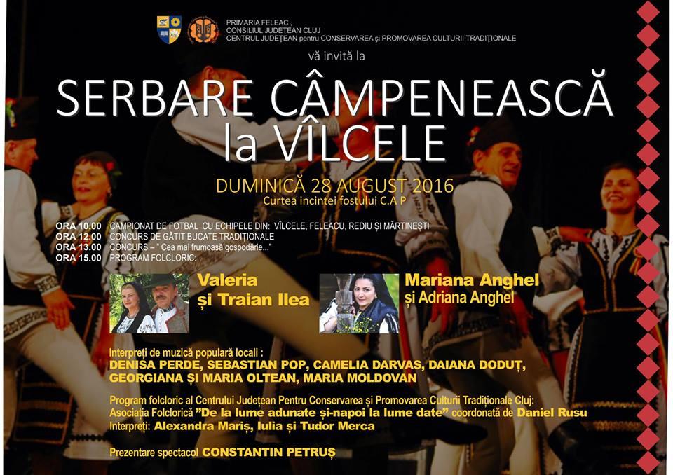 Manifestări culturale și serbări câmpenești, în acest weekend, la Vâlcele, Gârbău şi Valea Soporului
