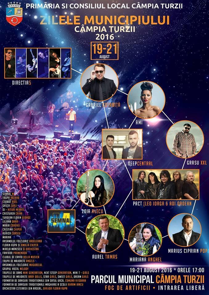 Zilele Municipiului Câmpia Turzii au loc în acest weekend, 19-21 august 2016