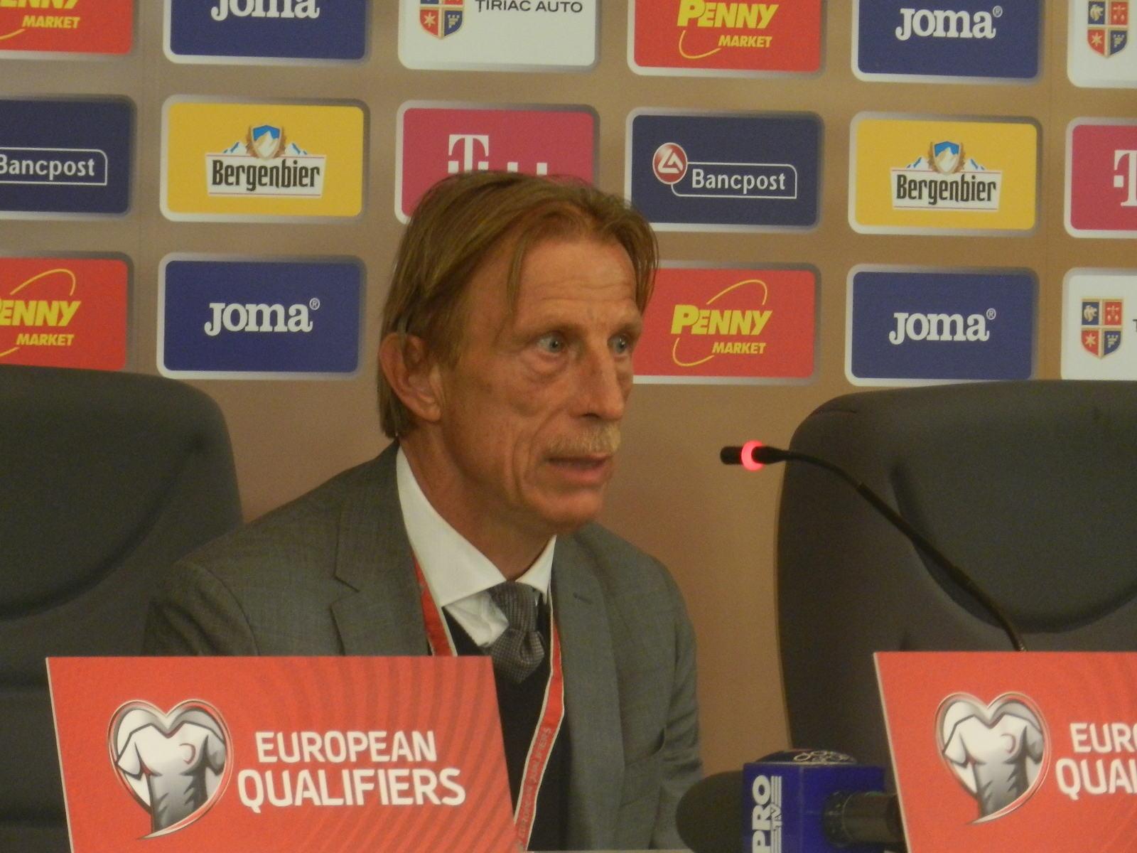 """Christoph Daum, după remiza României cu Muntenegru, 1-1, pe Cluj Arena! """"Am pierdut două puncte, dar mai sunt 9 finale. Totul e deschis, calificarea nu poate fi pierdută după un meci"""""""