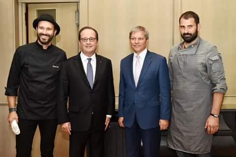 Bucătarul clujean Adi Hădean a gătit pentru premierul Dacian Cioloş şi preşedintele Franţei, Francois Hollande