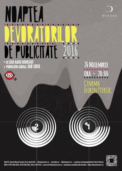 Clujul se pregătește de Noaptea Devoratorilor de Publicitate, ediția a XXI-a