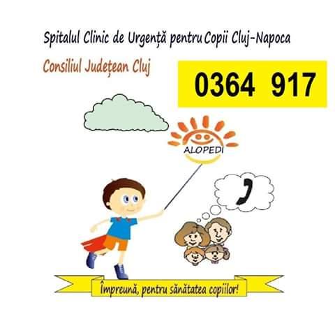 ALOPEDI, serviciul gratuit de sfat medical al Spitalului Clinic de Urgenţă pentru Copii Cluj este tot mai solicitat