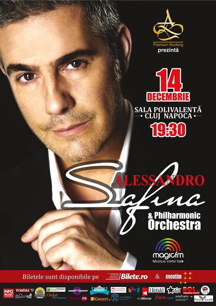 Unul dintre cei mai îndrăgiți tenori din lume, Alessandro Safina, va susține un concert la Cluj în luna decembrie