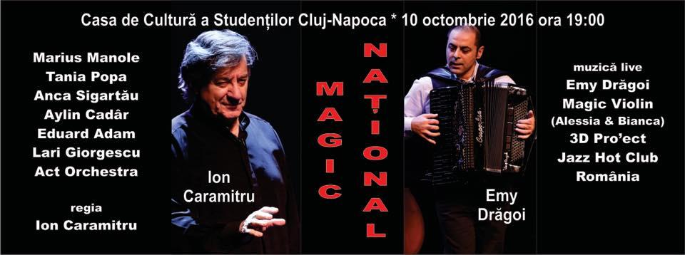 Cei mai îndrăgiți actori ai Teatrului Național București vin la Cluj să susțină un spectacol magic pe scena Casei de Cultură a Studenților