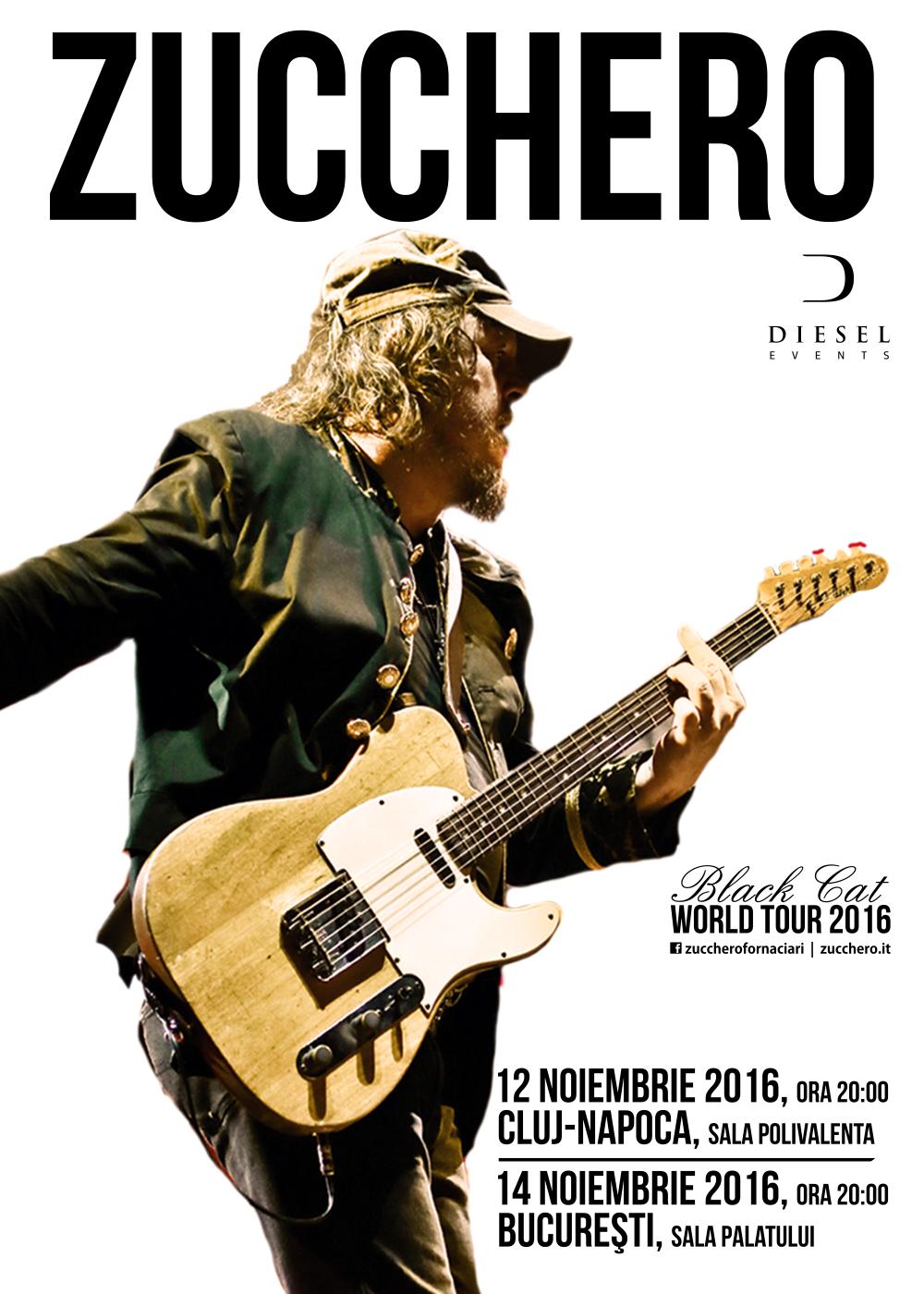 Zucchero, îndrăgostit de România! Italianul cu peste 60 milioane de albume vândute va concerta pe 12 noiembrie în Sala Polivalentă din Cluj
