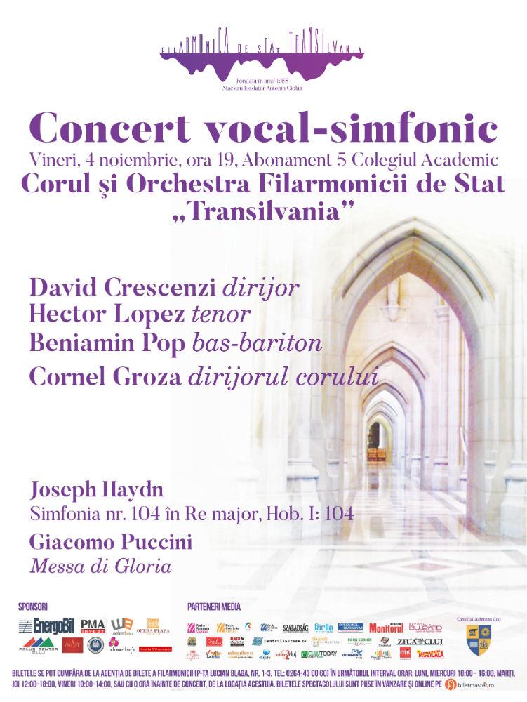 Concert vocal-simfonic sub bagheta dirijorului David Crescenzi