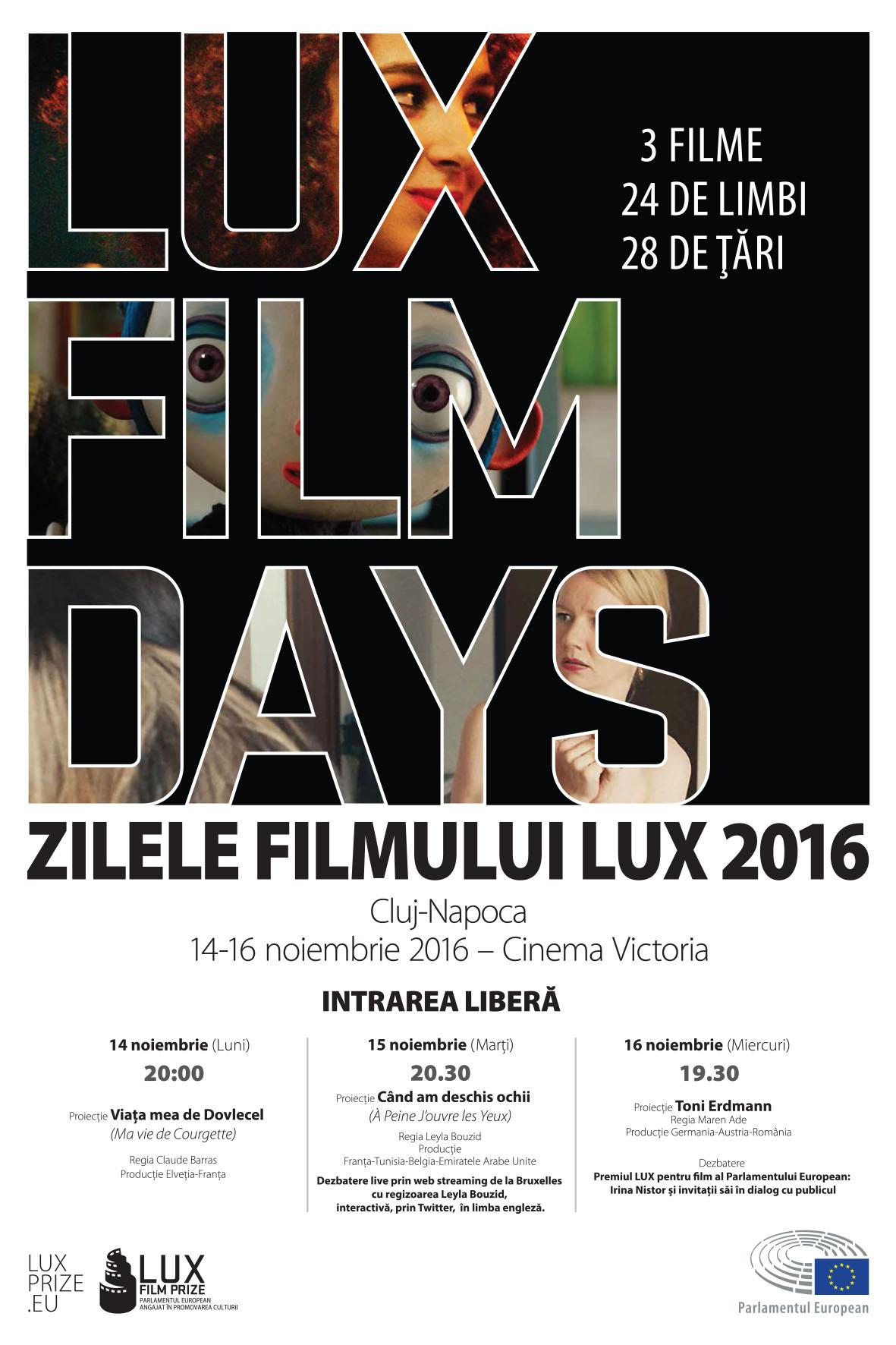 Zilele Filmului LUX revin la Cluj: dezbateri și proiecții de film cu intrare liberă, în perioada 14-16 noiembrie, la Cinema Victoria