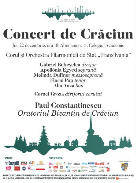 """Concert de Crăciun la Filarmonica de Stat """"Transilvania"""" – Debutul oficial al lui Gabriel Bebeşelea în calitate de dirijorul principal"""