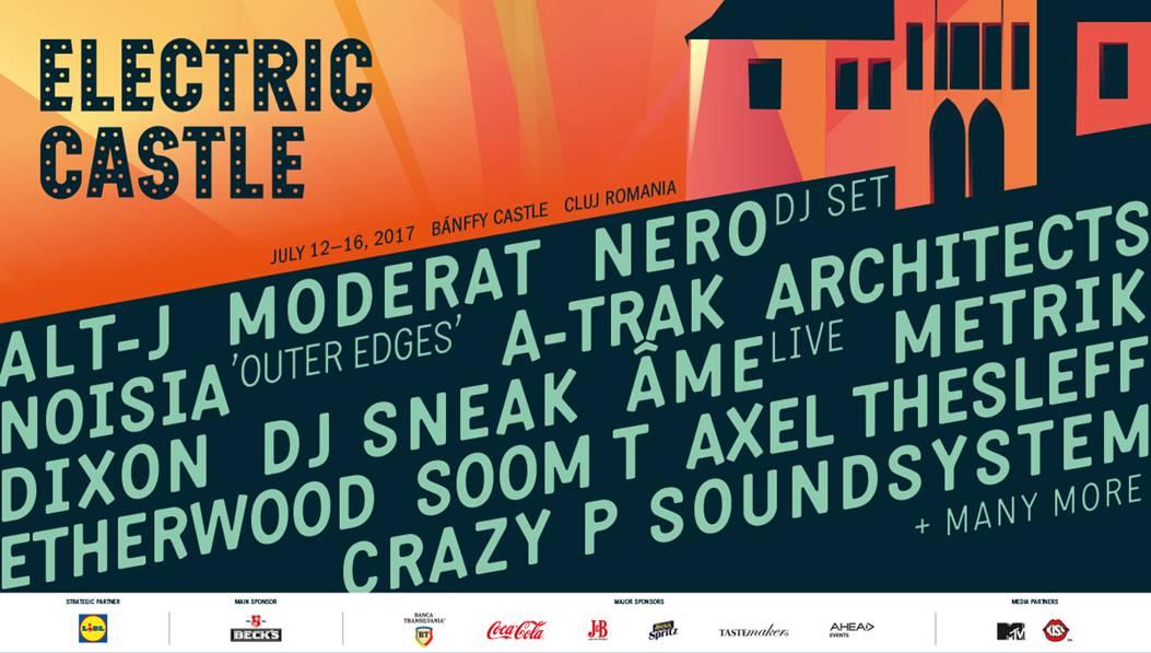 Primii artisti anuntati pentru ELECTRIC CASTLE 2017! Biletele se pun in vanzare astazi si vor fi disponibile chiar si IN RATE!