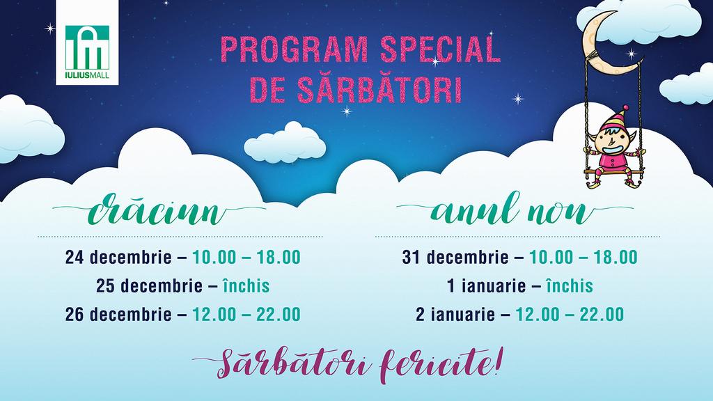 Iulius Mall Cluj va fi deschis în a doua zi de Crăciun și în 2 ianuarie 2017