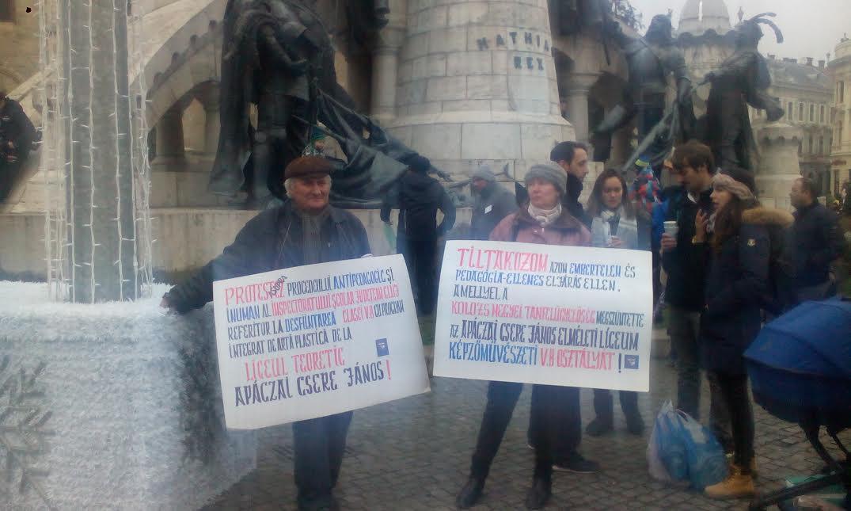 Protest împotriva Inspectoratului Școlar Județean Cluj de 1 Decembrie – FOTO