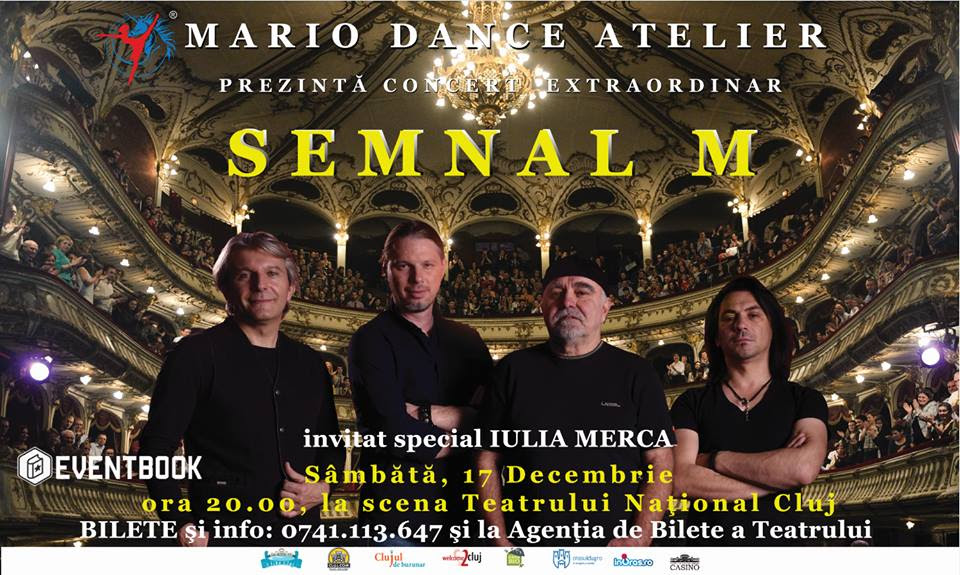 Legendara trupă Semnal M va concerta pentru prima dată pe scena Teatrului Național din Cluj, în 17 decembrie