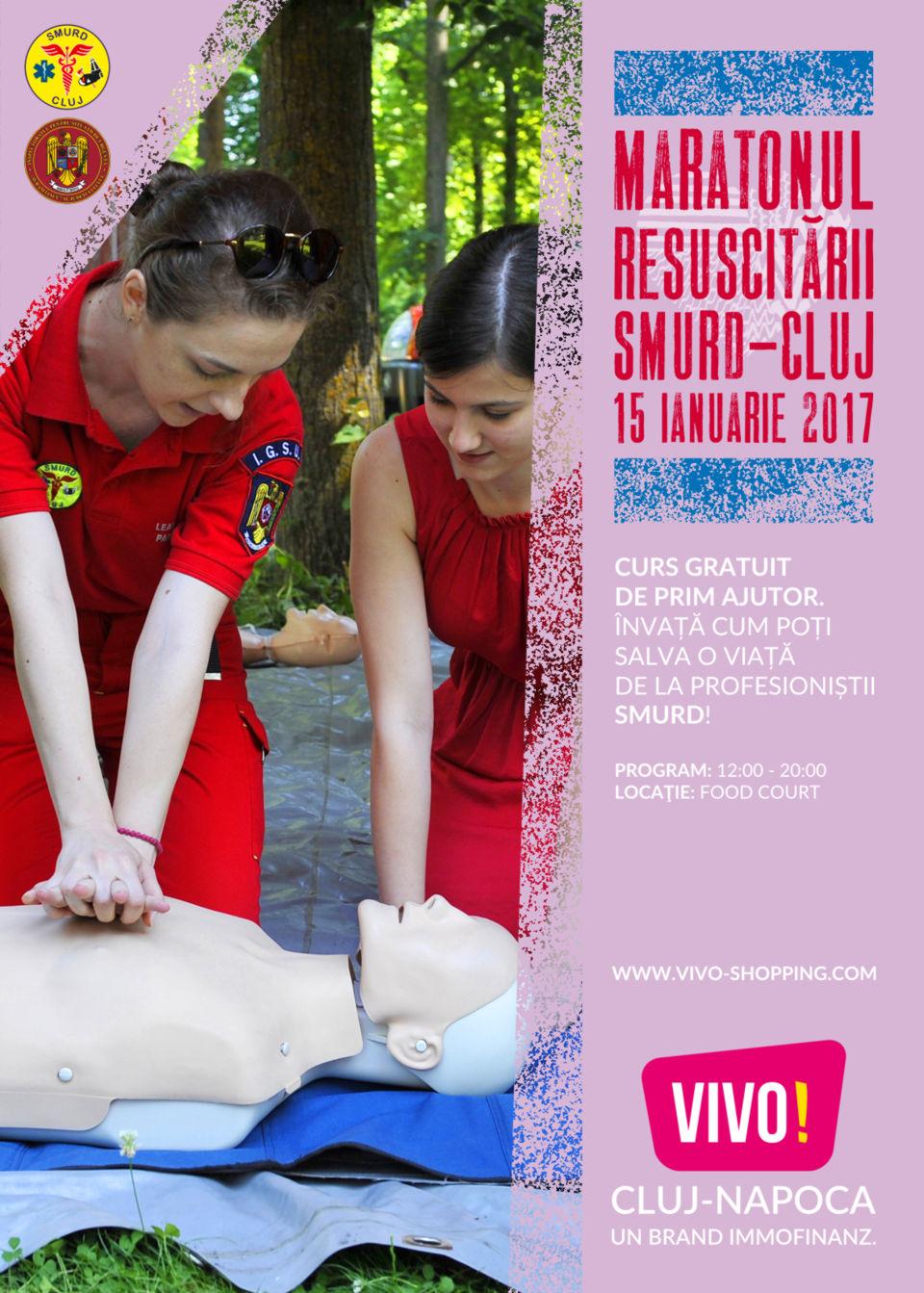 Maratonul Resuscitării – SMURD Cluj la VIVO! Cluj-Napoca